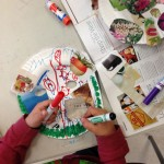 Student working on his Arcimboldo-inspired mask.