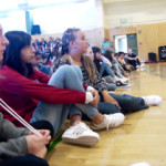 Rapt students listened intently as the young artists shared their stories.