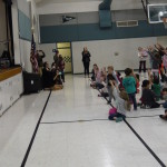 "Shawna leads the students in their ""Moana Dance"""