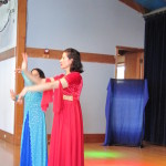 Demonstrating basic movements of Persian Dance