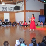 Teaching a workshop about the history of Persian Dance